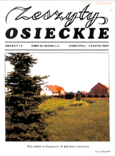 Zeszyty Osieckie 2005 Nr 13