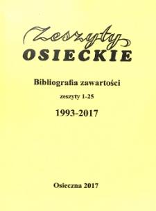 Zeszyty Osieckie : Bibliografia zawartości: cz.1