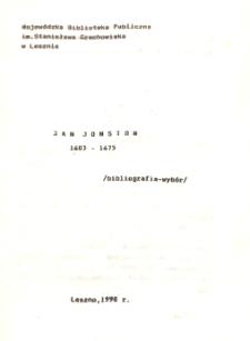 Jan Jonston 1603-1675 : bibliografia - wybór