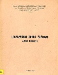 Leszczyński sport żużlowy : Alfred Smoczyk