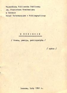 O kobiecie : proza, poezja, publicystyka : bibliografia - wybór