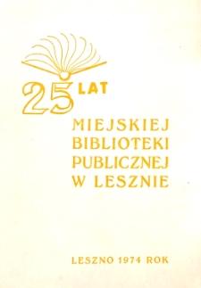25 lat Miejskiej Biblioteki Publicznej w Lesznie
