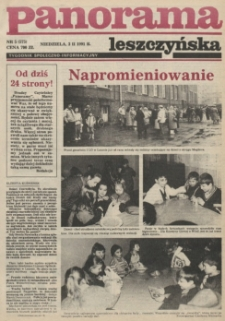 Panorama Leszczyńska 1991.02.03 R.13 Nr5(575)